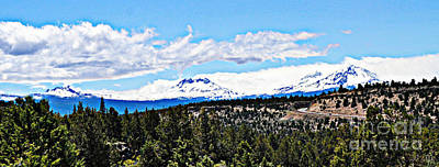 Oregon Photograph - Sisters Oregon  by Mindy Bench