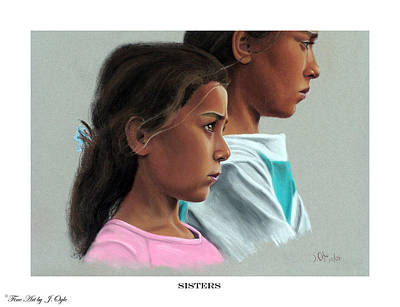 Painting - Sisters Print Version by Joseph Ogle