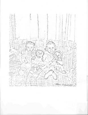 Sisters Art Print by Rebecca Christine Cardenas