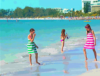 A Hot Summer Day Digital Art - Sisters by Susan Molnar