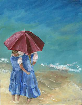 Sisters Art Print by Susan Richardson