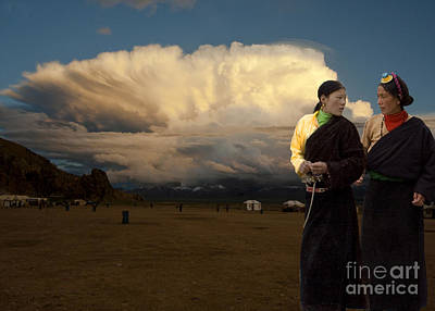 Digital Art - Sisters Talk Mongolia by Angelika Drake