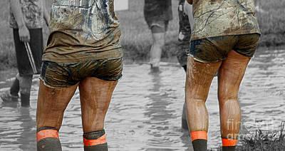 Sisters In Mud Art Print by Steven Digman