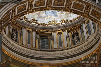 Photograph - Sistine Chapel Ceiling Detail by Mary-Lee Sanders