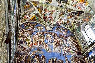 The Last Judgement Photograph - Sistine Chapel - Last Judgement by Jon Berghoff