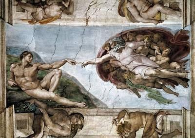 Sistine Chapel. The Creation Of Adam Art Print