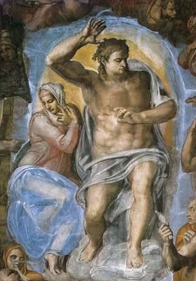 The Last Judgement Photograph - Sistine Chapel. The Last Judgement by Everett