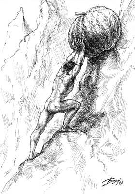Drawing - Sisyphus by Boyan Donev