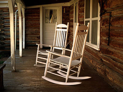 Rocking Chairs Photograph - Sit A Spell by Leland D Howard