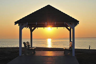 Photograph - Sit Awhile Jersey Shore Gazebo Seaside New Jersey  by Terry DeLuco