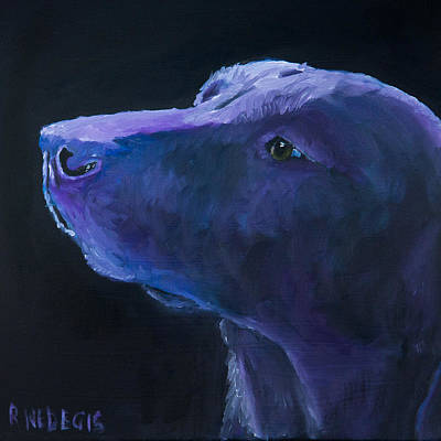 Retriever Painting - Sit Stay by Roger Wedegis