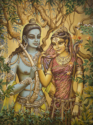 Sita And Ram Art Print by Vrindavan Das