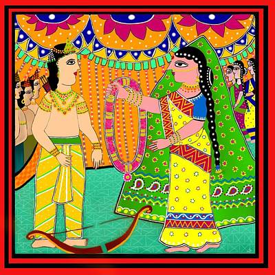 Sita's Wedding Art Print