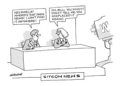 November 26 Drawing - Sitcom News 'hey by Mick Stevens