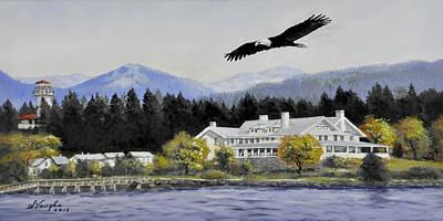 Sitka Painting - Sitka Alaska by Sidney Vaughn