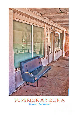 Photograph - Sittin' Bench Poster by Diane Enright