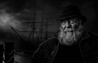 Portaits Photograph - Sitting At The Dock Of The Bay by Claude Brazeau