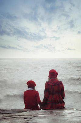 Friends Photograph - Sitting At The Sea by Joana Kruse