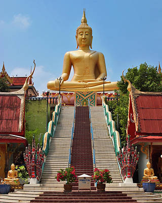 Bangkok Photograph - Sitting Buddha by Adam Romanowicz