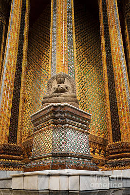 Photograph - Sitting Buddha At Phra Mondop by Inge Johnsson