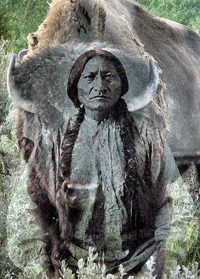 Sitting Bull . Lakota Sioux Holy Man Art Print by Patricia Januszkiewicz
