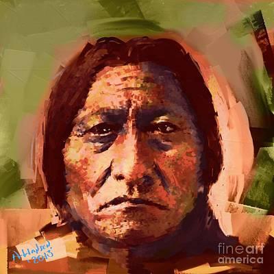Sitting Bull Art Print by Arne Hansen