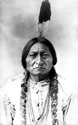Native Photograph - Sitting Bull by Bill Cannon