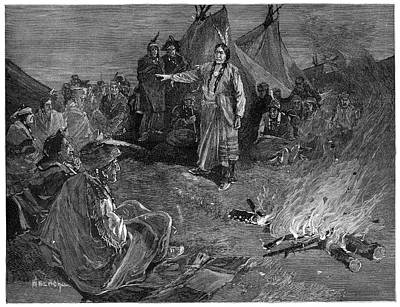Sitting Bull Painting - Sitting Bull (c1831-1890) by Granger