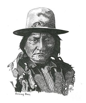 Drawing - Sitting Bull by Clayton Cannaday