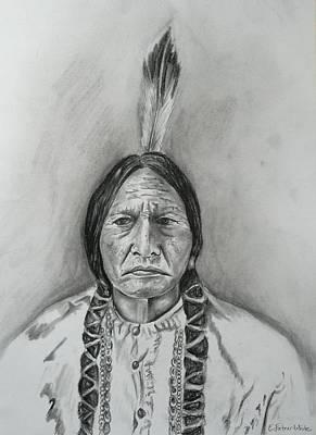 Sitting Bull Art Print by E White