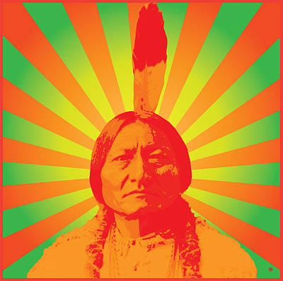 Native Digital Art - Sitting Bull by Gary Grayson
