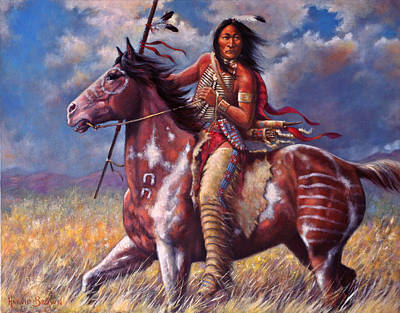 Paint Horse Painting - Sitting Bull by Harvie Brown