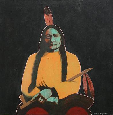Sitting Bull Art Print by J W Kelly