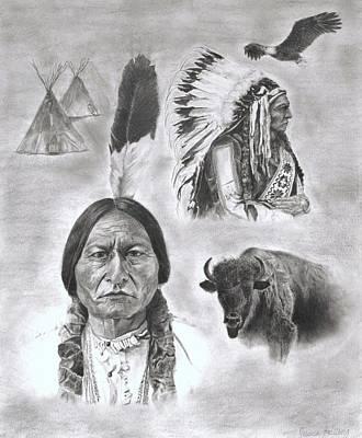 Sitting Bull Art Print by Jessica Hallberg