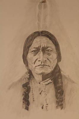 Michael Mcgrath Painting - Sitting Bull by Michael McGrath