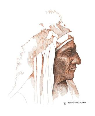 Wall Art - Drawing - Sitting Bull by Paul Shafranski
