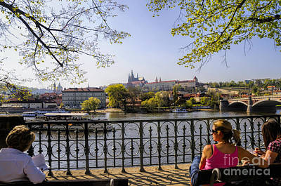 Photograph - Sitting By The River Vltava by Brenda Kean