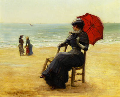 Sitting By The Sea Art Print by Edouard Bisson