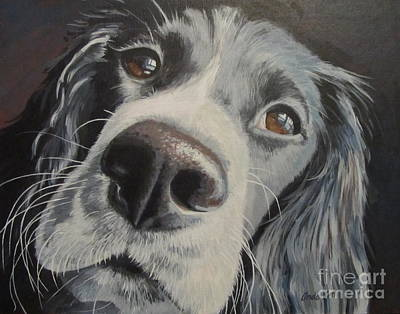 Dog Close-up Painting - By The Window by Anda Kett