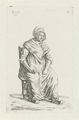 Belgium Drawing - Sitting Farmer From Wallonia Belgium, Print Maker Anthonie by Anthonie Willem Hendrik Nolthenius De Man