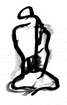 Sitting Figure Art Print by Christine Perry