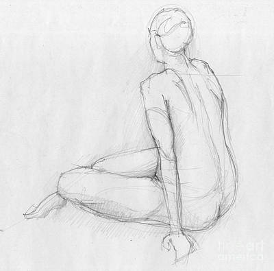 Atelier Drawing - Sitting Figure by Peut Etre