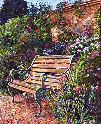 Sitting In The Garden Art Print by David Lloyd Glover