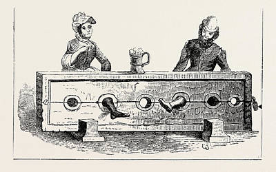 Sitting In The Stocks Art Print by English School
