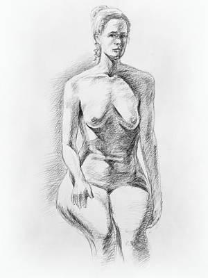 Nudes Royalty-Free and Rights-Managed Images - Sitting Model Study by Irina Sztukowski