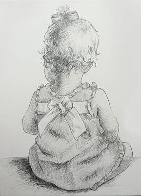 Drawing - Sitting Pretty by Kelley Smith