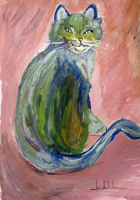 Whimsy Painting - Sitting Pretty by Lou Belcher
