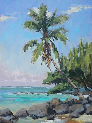 Na Pali Hawaii Painting - Sitting Pretty by Pierre Bouret