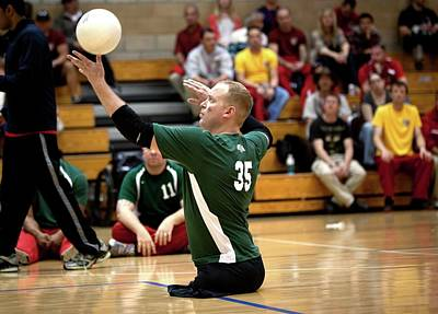 Volleyball Photograph - Sitting Volleyball by Us Air Force/mark Fayloga