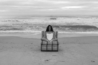 Photograph - Sittinng On The Beach by Thomas Leon